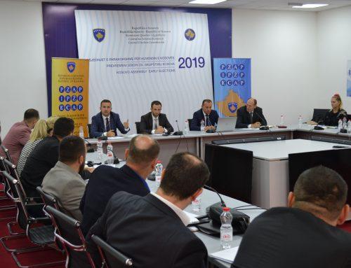 Informativni sastanak o izbornoj kampanji  sa predstavnicima političkih subjekata