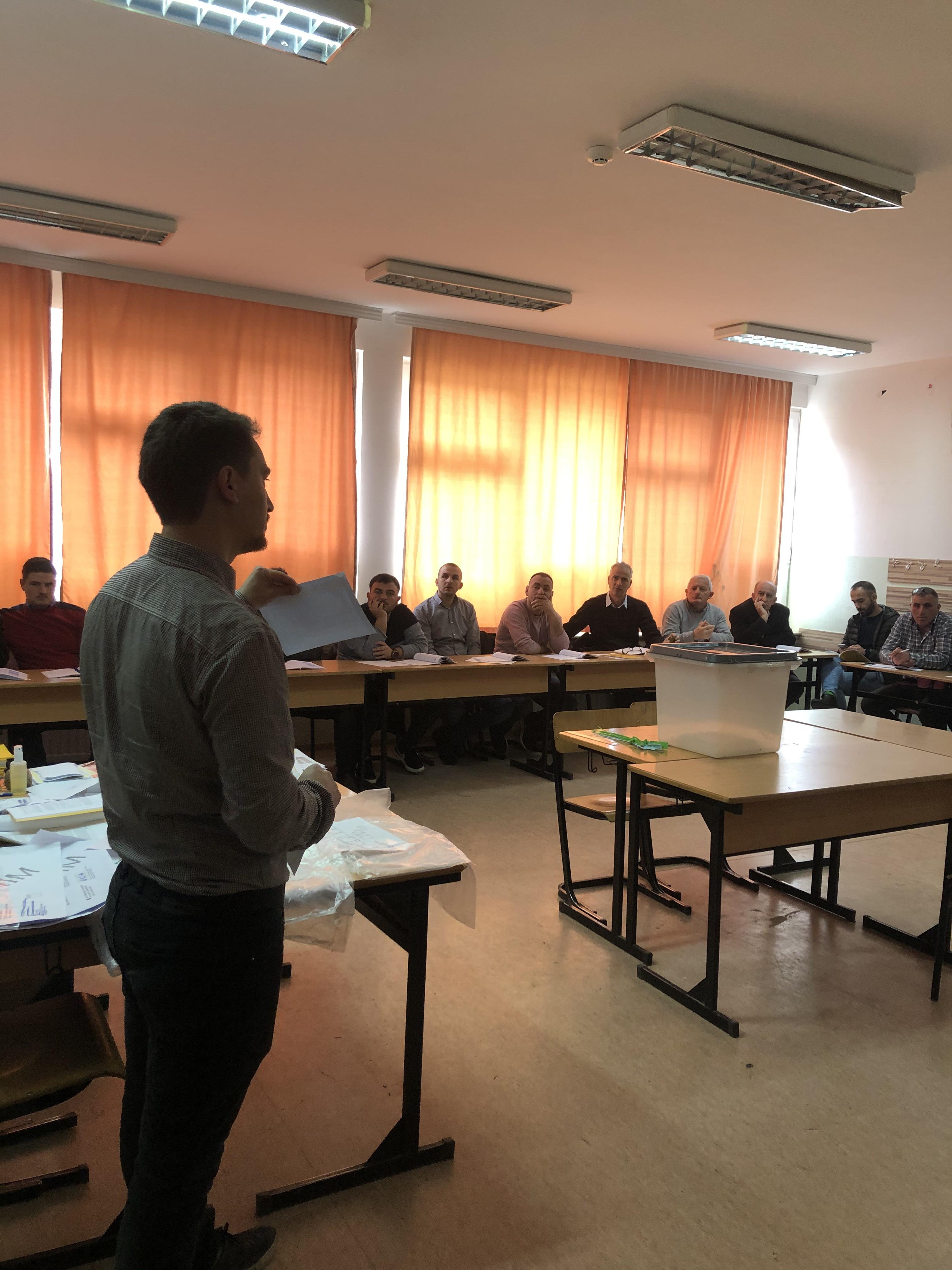 CIK je održao obuku za članove Biračkih odbora u Podujevu