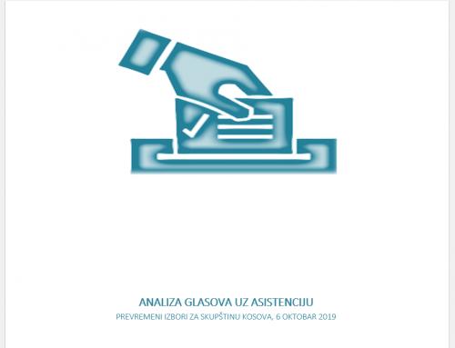 Publikohet analiza e votave me asistencë nga zgjedhjet e 6 tetorit 2019